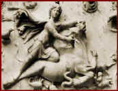 Mithras stabbing the Bull of Darkness.